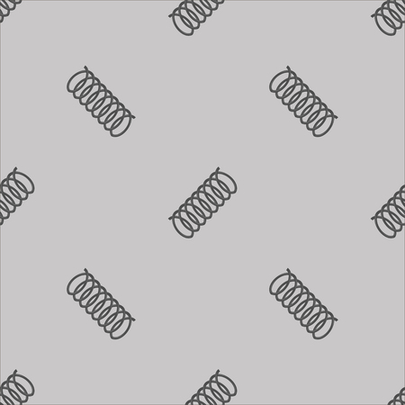 springy: Metal Grey Spring Seamless Pattern on White Background