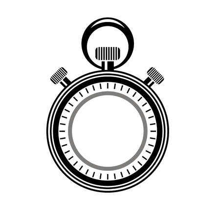 time keeping: Second Timer Icon Isolated on White Background. Watch Logo