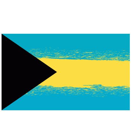 Grunge Flag of Bahamas Isolated on White Background Illustration