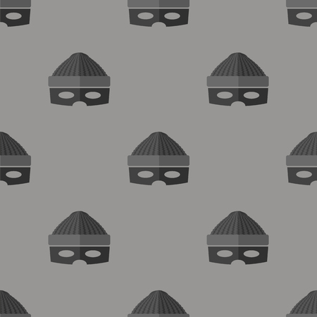 plunderer: Thief Icon Seamless Pattern on Grey Background Stock Photo