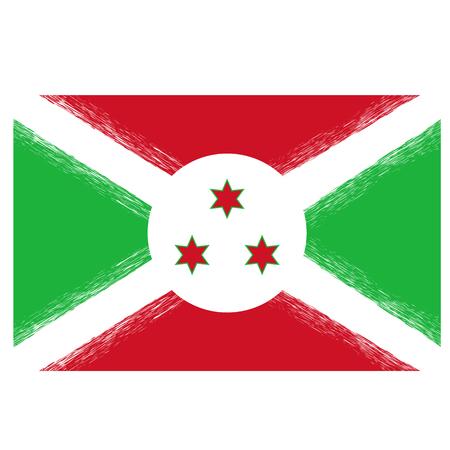 National Grunge Flag of Burundi. Symbol of Independence. Illustration