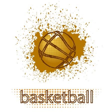 Basketball Creative Grunge Design Isolated on White Background.