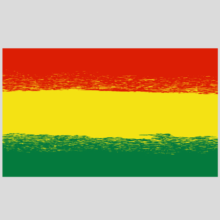 bolivian: National Grunge Flag of Bolivia Isolated. Symbol of Bolivian Independence