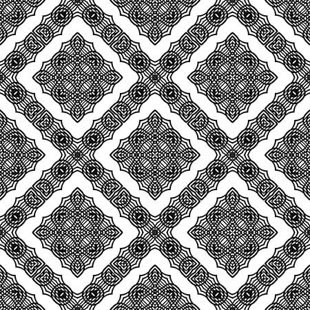 vibrating: Ornamental Seamless Line Pattern. Endless Texture. Oriental Geometric Ornament