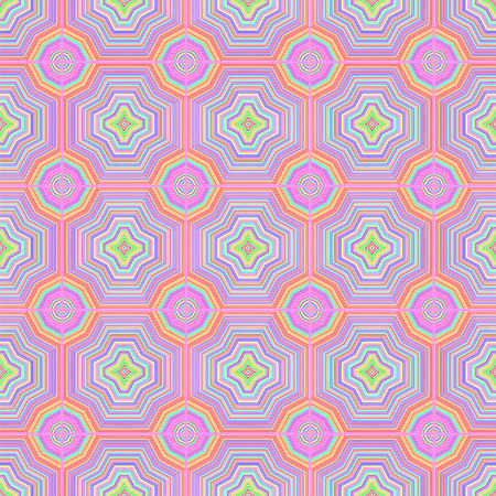 vibrating: Colorful Ornamental Seamless Line Pattern. Endless Texture. Oriental Geometric Ornament