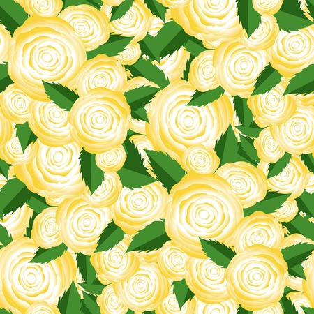 centifolia: Bouquet of Yellow Roses Random Seamless Pattern. Fresh Floral Background
