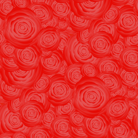 centifolia: Bouquet of Roses Random Seamless Pattern. Fresh Floral Background
