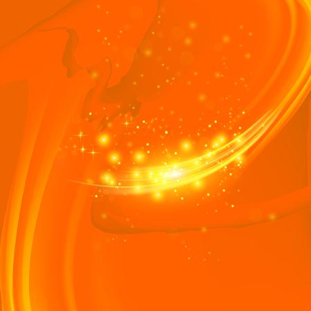 Abstrait de vague Orange clair. Motif flou.