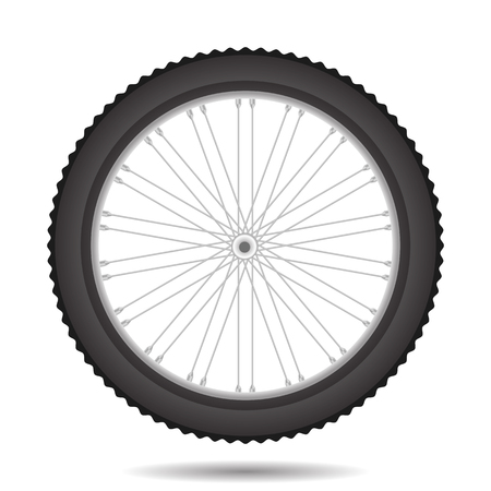 Bicycle Wheel Icon Isolated on White Background Ilustrace