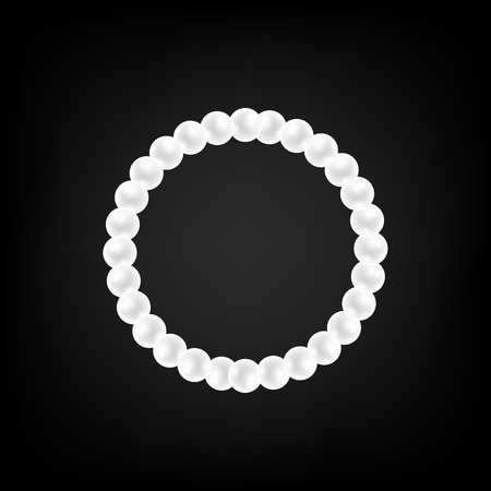 Pearl Necklace Isolated on Gradient Black Background