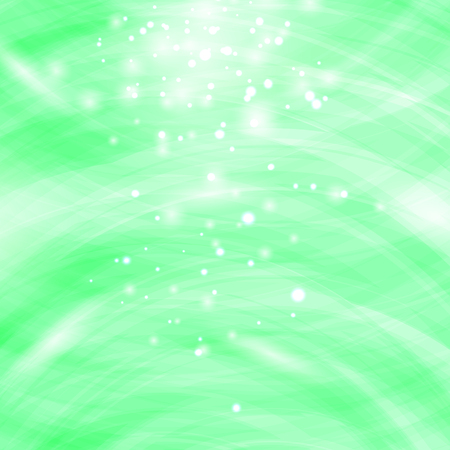 Green Burst Blurred Background. Sparkling Texture. Star Flash. Glitter Particles Pattern. Starry Explosion
