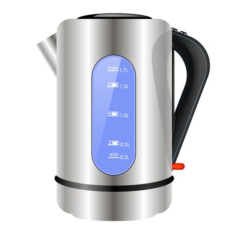 Modern Electric Kettle Icon Isolated on White Background