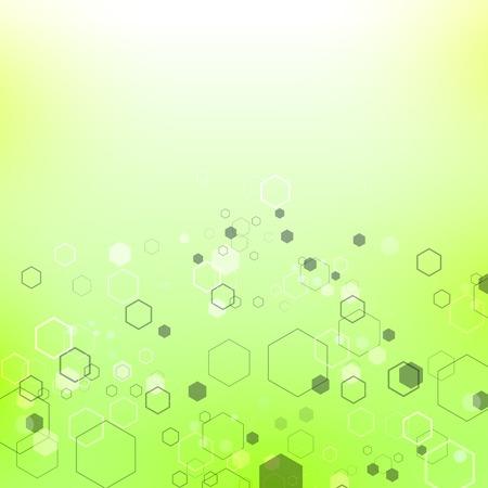 粒子、分子構造を有するグリーン技術の背景遺伝的および化学化合物。コミュニケーションコンセプト。空間と星座。