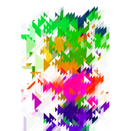 Abstract Colorful Pattern. Geometric Ornamental Triangle Background