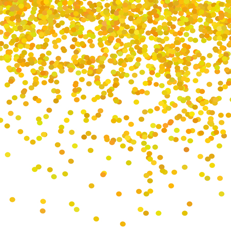 Gold Confetti Pattern Isolated on White Background