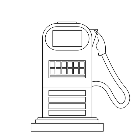 Gas Station Icon Isolated on White Background Illustration