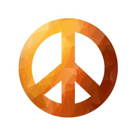 Colored pacific symbol. Illustration