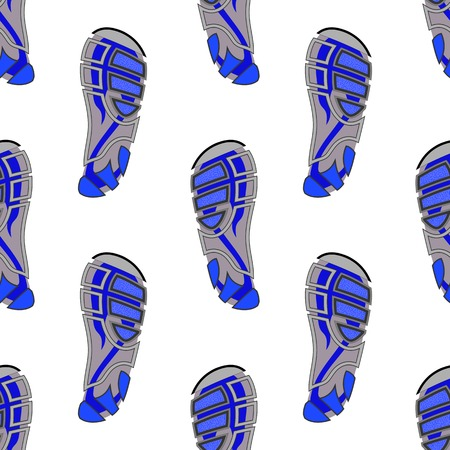 Clean Sport Shoe Seamless Imprints Isolated on White Background Stock Photo