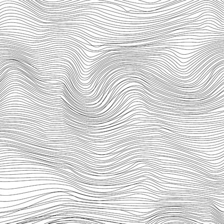 Wave Stripe Background. Grunge Line Textured Pattern