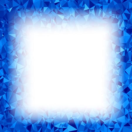 Blue Polygonal Backdrop with Rumpled Triangular Pattern.