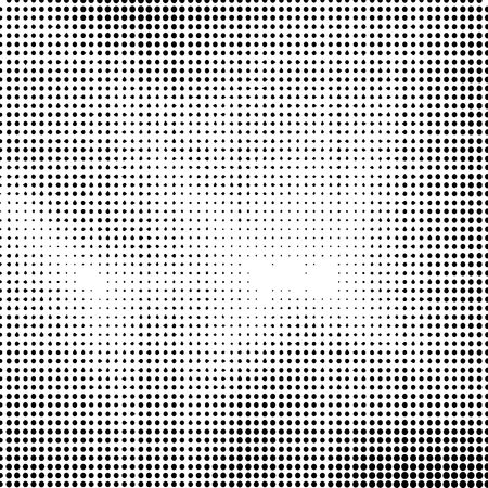 Halftone Background. Dotted Abstract  Texture. Dirty Damaged Spotted Circles Pattern. Ilustração
