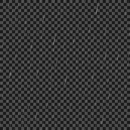 Seamless Rain Drops Pattern on Grey Checkered Background
