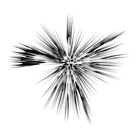 Explode Flash, Cartoon Explosion, Star Burst Isolated on White Background