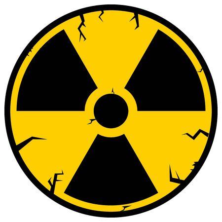 Ionizing Radiation Sign. Radioactive contamination symbol. Warning Danger Hazard.