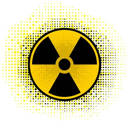 Ionizing Radiation Sign. Radioactive Contamination Symbol. Warning Danger Hazard. Vector Illustration