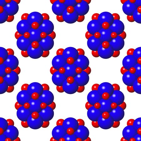 Abstract Molecules Design. Blue Red Spheres Seamless Pattern. Molecular Structure Atoms. Medical Background for Banner. Иллюстрация