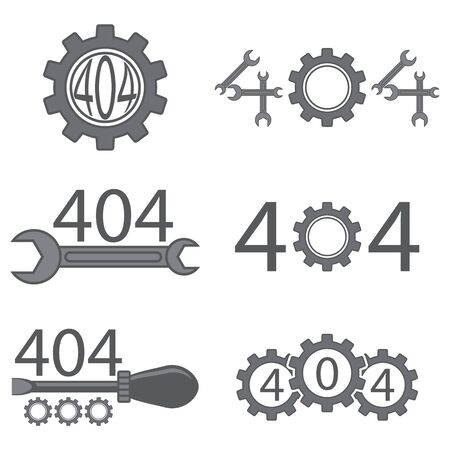 Repair Icon with Wrench Isolated on White Background. Mechanic Service Concept . Technical Maintenance. Troubleshooting Banner. Tech Support. 404 Error. Page Not Found.