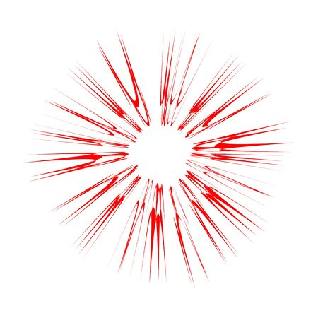 Explode Flash, Cartoon Explosion, Star Burst Isolated on White Background.