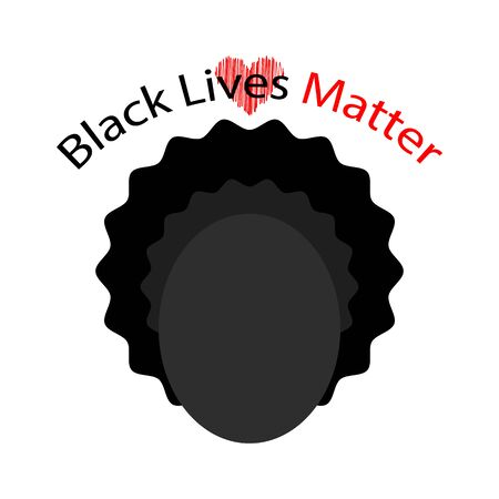 Black Lives Matter Banner for Protest on White Background.