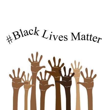 Black Lives Matter Banner for Protest on White Background. Archivio Fotografico - 149625572