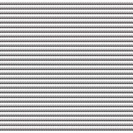 Rebars, Reinforcement Steel Isolated on White Background. Construction Metal Armature.
