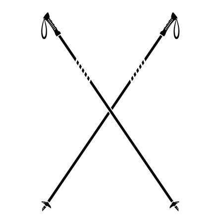 Nordic Walking Stick Icon Isolated on White Background.