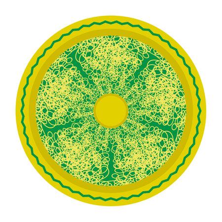 Boiled Floury Product Spaghetti Pattern Isolated on White Background. 矢量图像