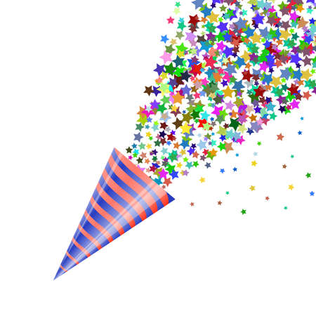 Colourful Confetti Icon Isolated on White Background.