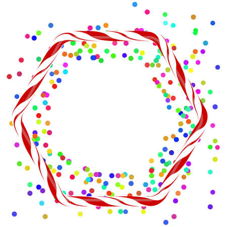Colorful Confetti Icon Isolated on White Background.