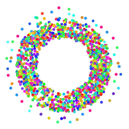 Colorful Confetti Frame Icon Isolated on White Background. 矢量图像
