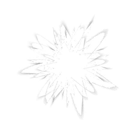 Explode Flash, Cartoon Explosion, Star Burst Isolated on White Background.