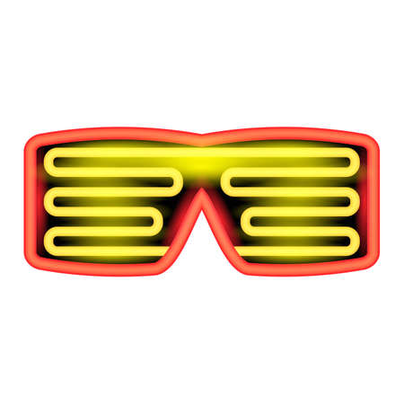 Heon Glasses Isolated on White Background. Stylish Gadget for Night Club.