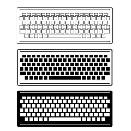 Computer Keyboard Icon Set Isolated on White Background. PC Buttons. Part of Desktop 矢量图像