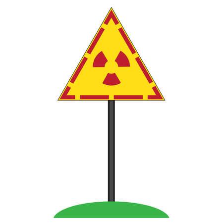 Ionizing Radiation Sign. Radioactive Contamination Symbol. Warning Danger Hazard 矢量图像