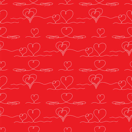 One Continuous Line Drawing Heart Icon. Symbol of Love. Elegant Wedding Doodles. Valentine Day Print. 矢量图像