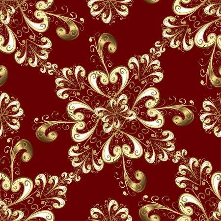 spun: Seamless background on red color. Vector illustration.