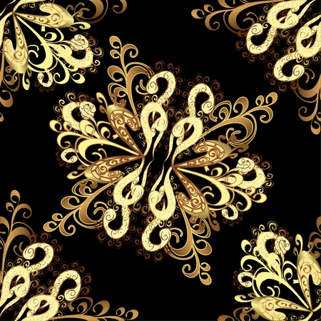 oldest: Abstract beautiful , royal, damask ornament, vintage, rich seamless pattern, luxury, artistic wallpaper, floral, oldest style fashioned arabesque fabric for decoration and design Illustration