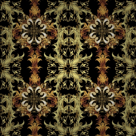 stately: Abstract beautiful background, royal, damask ornament, vintage, rich seamless pattern, luxury, artistic vector wallpaper, floral, oldest style fashioned arabesque fabric for decoration and design
