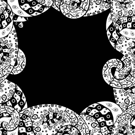 bezel: vector seamless abstract hand drawn pattern white and black Illustration