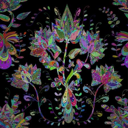 flores abstractas: textura abstracta con flores abstractas